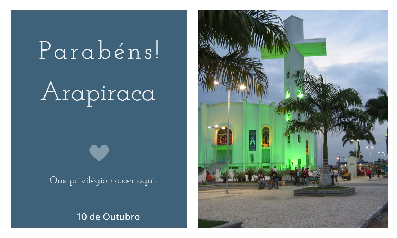 aniversario de arapiraca - Data de aniversário de Arapiraca - AL