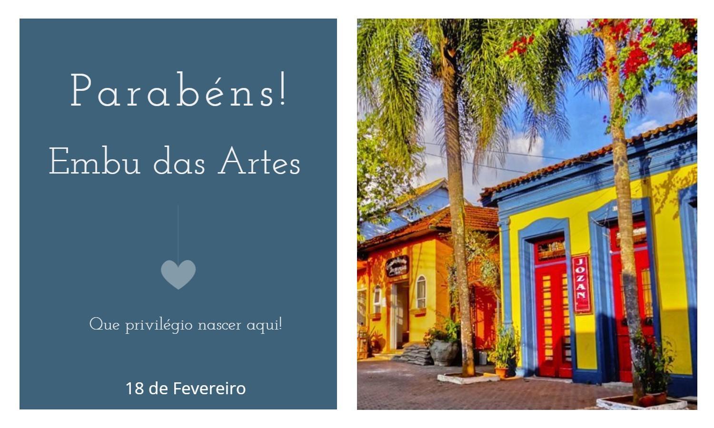 aniversario de embu das artes - Data de aniversário de Embu das Artes - SP