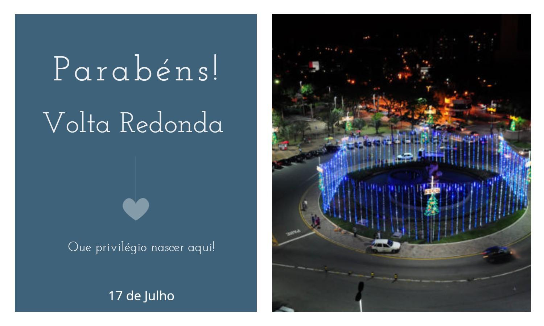 aniversario de volta redonda rj - Data de aniversário de Volta Redonda - RJ