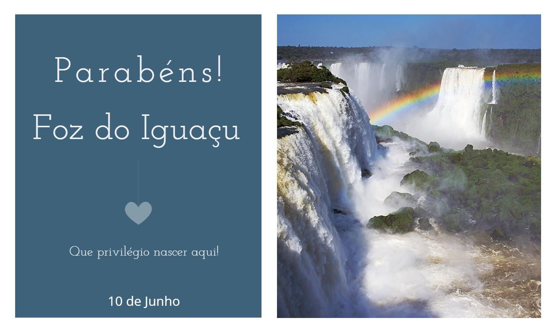 aniversario foz iguacu pr 1 - Data de aniversário de Foz do Iguaçu - PR